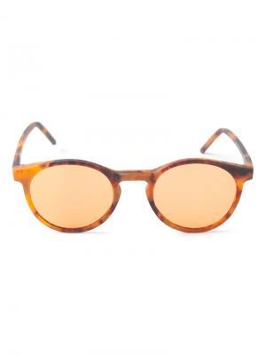 Солнцезащитные очки Miki Kyme. Цвет: жёлтый и оранжевый
