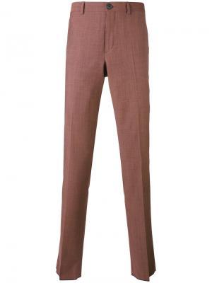 Классические брюки Ps By Paul Smith. Цвет: розовый и фиолетовый