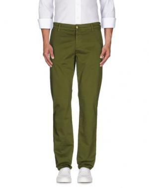 Повседневные брюки MONKEE GENES. Цвет: зеленый