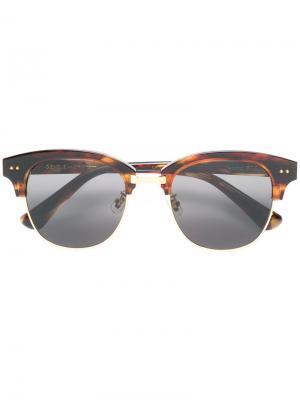 Солнцезащитные очки Second Boss Gentle Monster. Цвет: коричневый
