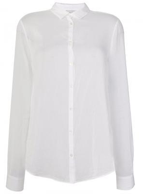 Рубашка с оборками Forte. Цвет: белый