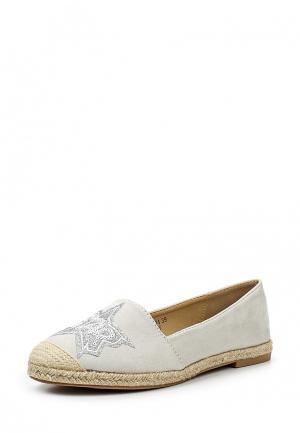 Эспадрильи Sweet Shoes. Цвет: серый