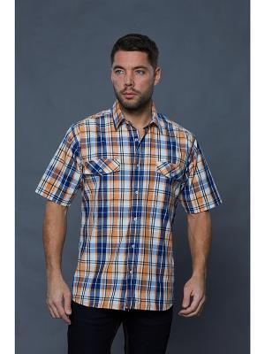 Рубашка John Jeniford. Цвет: оранжевый