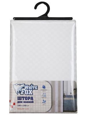 Штора для ванной WHITE FOX. Цвет: белый