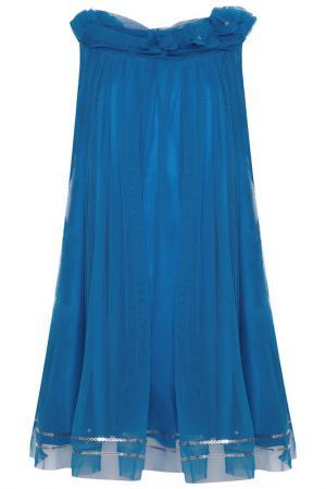Платье Uttam kids. Цвет: синий
