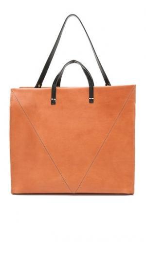 Простая объемная сумка с короткими ручками V Clare V.