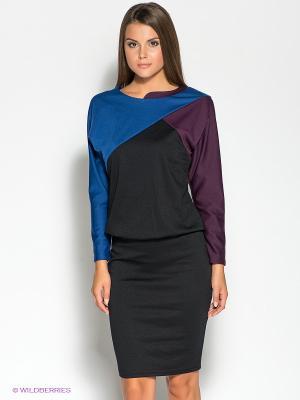 Платье DOCTOR E. Цвет: черный, синий, фиолетовый