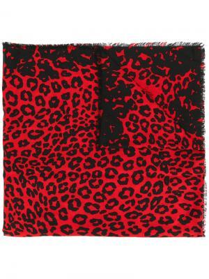 Шарф с леопардовым принтом Marc Jacobs. Цвет: чёрный