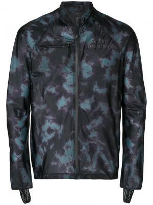 Tie dye zipped running jacket Satisfy. Цвет: синий