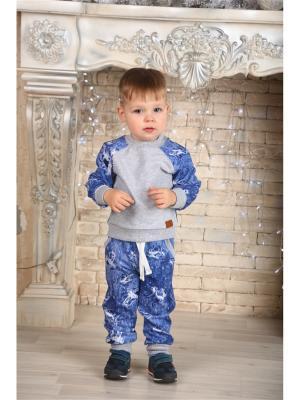 Спортивный костюм LFC. Цвет: синий,серый,белый