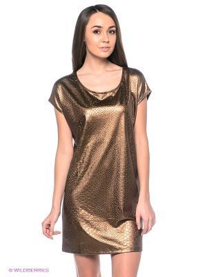 Платье Blend. Цвет: золотистый