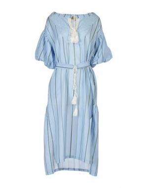Платье до колена BONSUI. Цвет: небесно-голубой