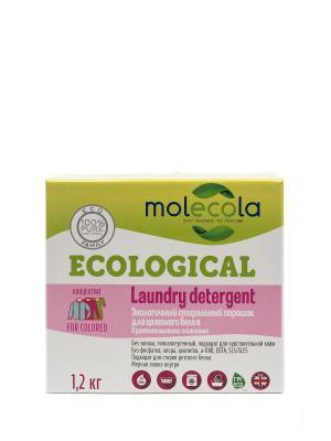 Стиральный порошок для  цветного белья с растительными энзимами Molecola. Цвет: прозрачный