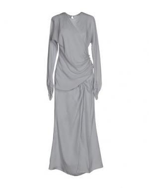 Длинное платье ALESSANDRA RICH. Цвет: светло-серый