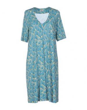 Короткое платье SIYU. Цвет: лазурный