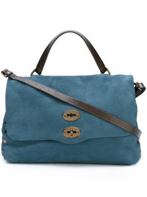 Средняя сумка на плечо Postina Zanellato. Цвет: синий