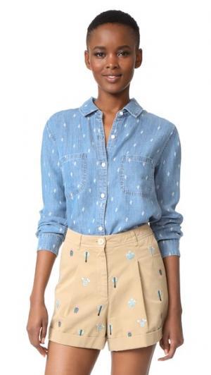 Рубашка на пуговицах Carter RAILS. Цвет: кактус из денима