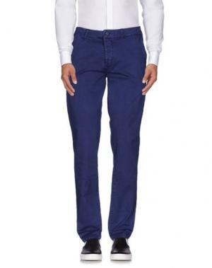 Повседневные брюки QU4TTRO. Цвет: синий