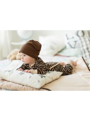 Пижама Bambinizon. Цвет: коричневый