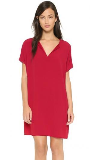 Платье Kora Diane von Furstenberg. Цвет: темно-бордовый