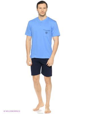 Домашний костюм Navigare. Цвет: синий, голубой