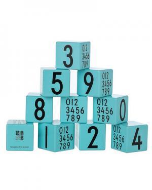 Деревянные кубики Design Letters. Цвет: бирюзовый