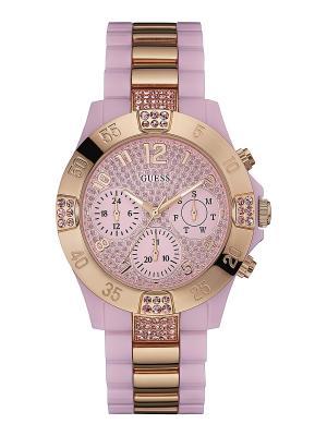 Часы GUESS. Цвет: розовый