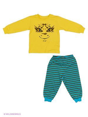 Пижама PELICAN. Цвет: бирюзовый, желтый