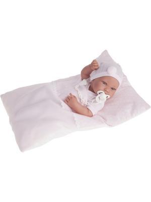 Кукла-младенец Пипа в розовом, 42см Antonio Juan. Цвет: бледно-розовый