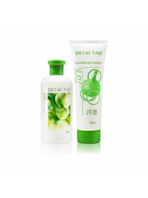 Набор шампунь + бальзам для волос Лук, от выпадения, восстанавливающий. TAI YAN. Цвет: белый