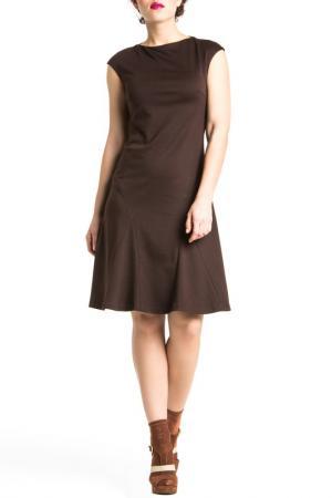 Повседневное платье YULIASWAY YULIA'SWAY. Цвет: коричневый