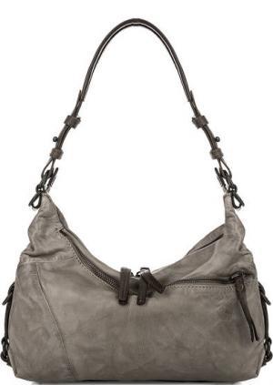 Кожаная сумка с длинной ручкой aunts & uncles. Цвет: серый