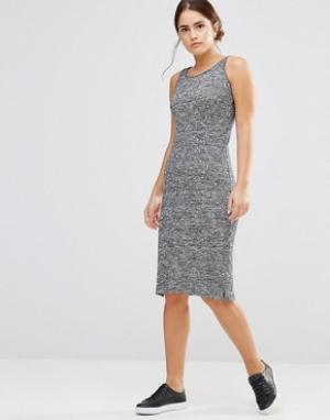 Uncivilised Вязаное платье Solstice. Цвет: серый
