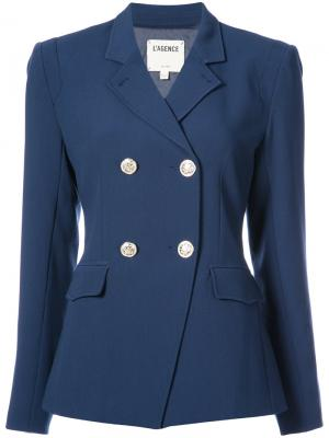 Двубортный пиджак  Lagence L'agence. Цвет: синий