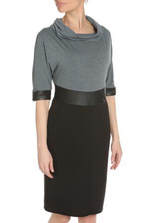 Платье LEIDIRO. Цвет: черный, серый