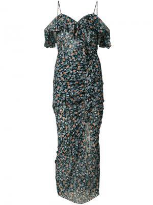 Платье с цветочным узором Veronica Beard. Цвет: чёрный