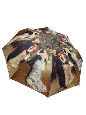 Зонт Edmins. Цвет: темно-коричневый, рыжий, темно-бежевый