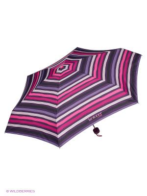 Зонты Isotoner. Цвет: розовый, фиолетовый, белый, черный