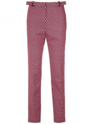 Прямые брюки с принтом Reinaldo Lourenço. Цвет: красный