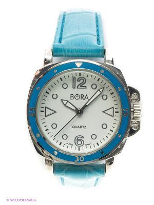 Часы Bora. Цвет: белый, голубой