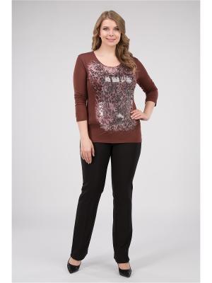Блузка женская Proto. Цвет: коричневый
