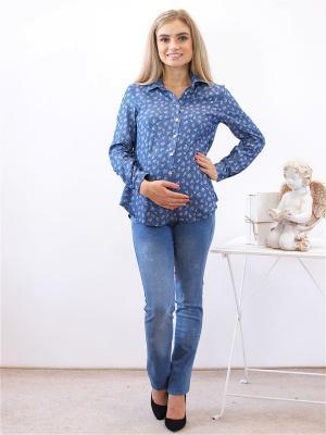 Рубашка Адель. Цвет: синий