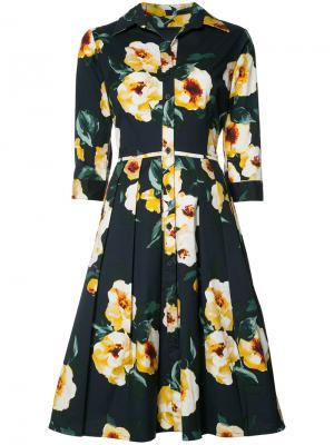 Платье Audrey Dahlia Samantha Sung. Цвет: синий