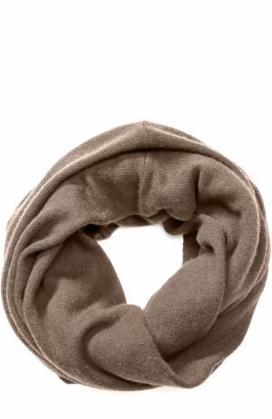 Кашемировый шарф-снуд TSUM Collection. Цвет: бежевый