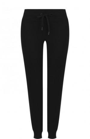 Однотонные хлопковые джоггеры с карманами DKNY. Цвет: черный