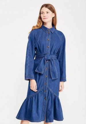 Платье джинсовое Vika Smolyanitskaya. Цвет: синий