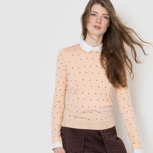 Пуловер с отложным воротником MADEMOISELLE R. Цвет: телесный