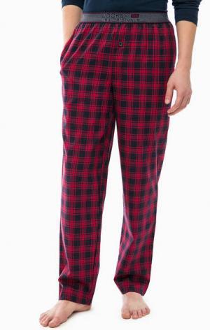 Домашние брюки в клетку Jockey. Цвет: красный