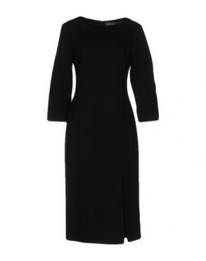 Платье до колена CARLA MONTANARINI. Цвет: черный