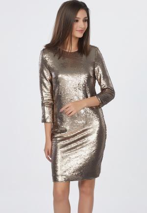 Платье Fly. Цвет: золотой